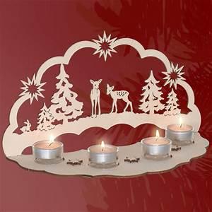 Basteln Holz Weihnachten Kostenlos : stimmungsvolle dekorationen aus holz lichterbogen rehe ~ Lizthompson.info Haus und Dekorationen