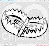 Lineart Trap Bear Illustration Clipart Vector Royalty Lineartestpilot sketch template