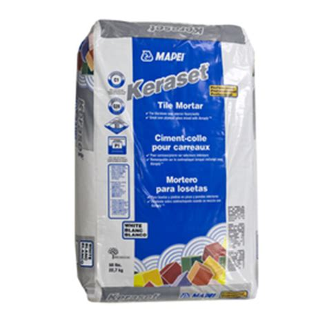 shop mapei white powder dry thinset mortar at lowes com