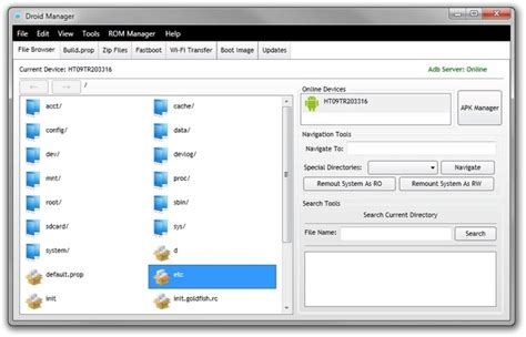 android file droid manager powerful adb front end management suite