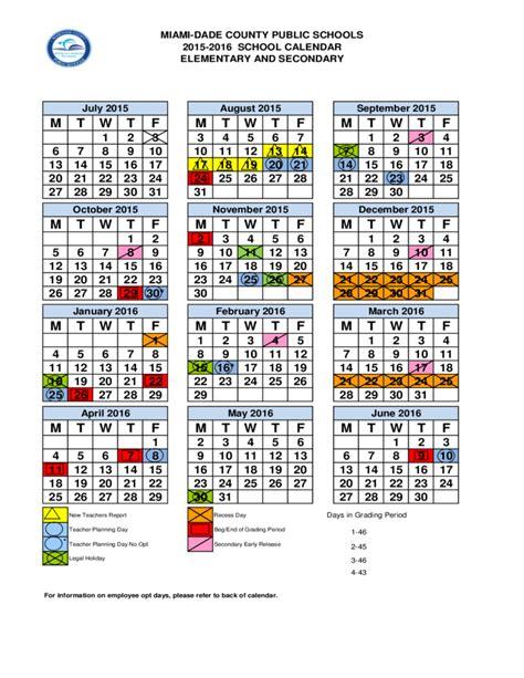 school calendar dade county miami