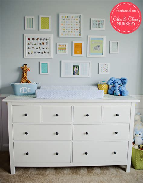 ikea baby room decor changing table and wall art in blue and white classic boy flickr