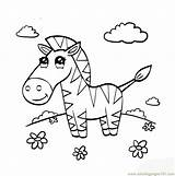 Zebra Coloring Pages Coloringpages101 sketch template