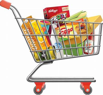Shopping Grocery Transparent Clipart Clip Supermarket Groceries