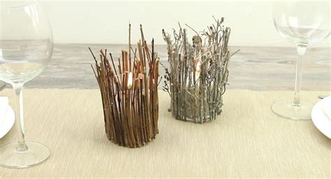 rustic twig candle holder home decorating trends