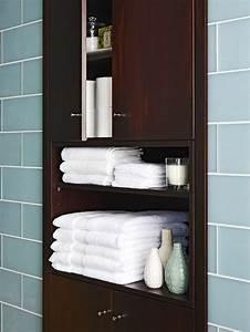 built in bathroom cabinet contemporary bathroom bhg With built in bathroom storage vanities