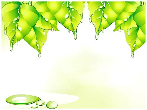 green leaf powerpoint template   templates vision