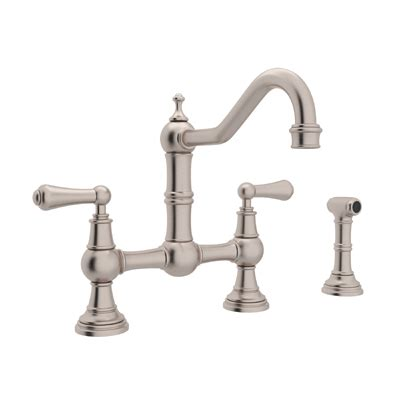 perrin rowe traditional bridge kitchen faucet w sidespray