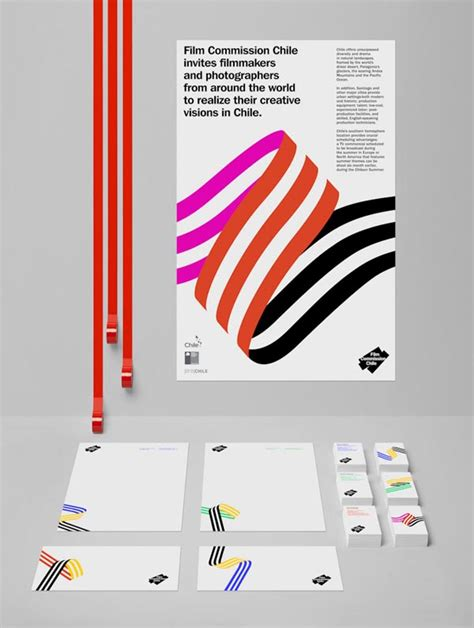 film commission chile visual identity design by hey studio