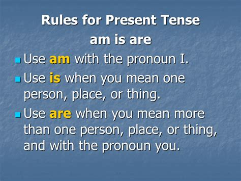 English Rules Lesson 6  Presentation English Language Sliderbase