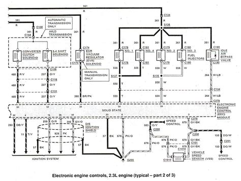 1991 Ford Ranger Engine Diagram by Ford Ranger Bronco Ii Electrical Diagrams At The Ranger