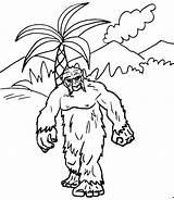 Coloring Yeti Animal Kingdom Fantasy Pages Printable sketch template