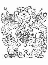 Coloring Clown Clowns Circus Printable Scary Happy Cheering Everyone Painting Them 321coloringpages sketch template