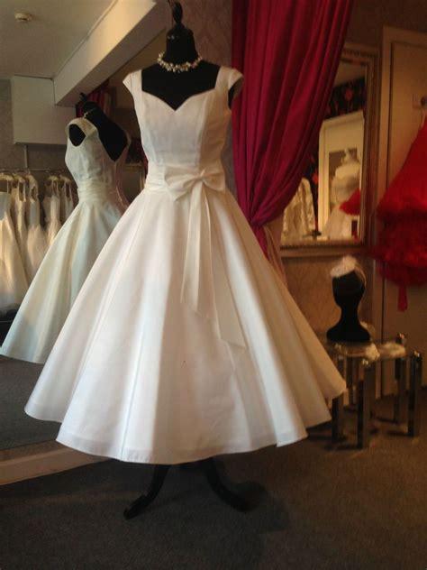 1950s 60s tea length wedding dress ivy uk 10 vintage 50s