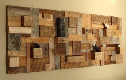 desain hiasan dinding rumah unik  kayu bekas