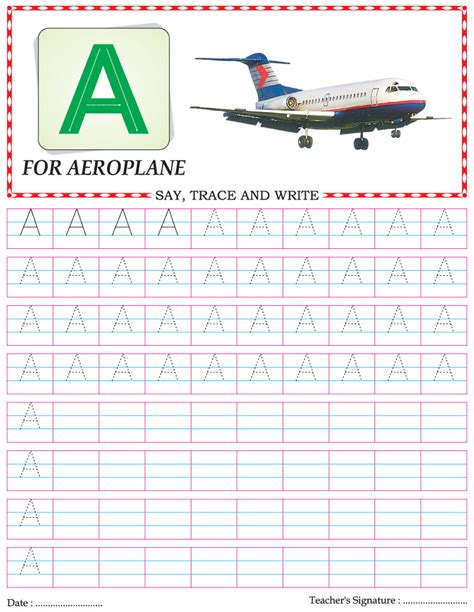 capital letter writing practice worksheet alphabet a