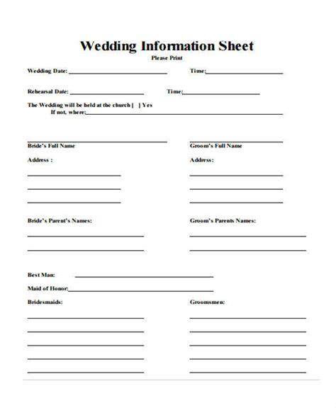information sheet samples templates   ms