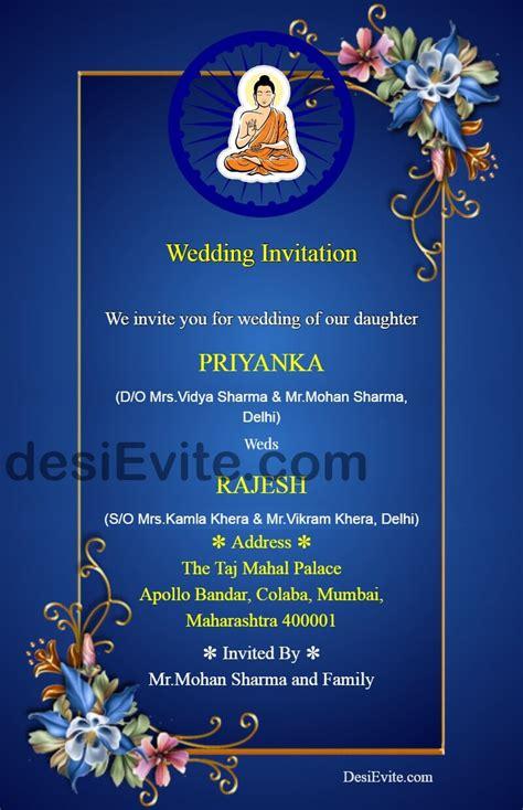 buddhist marriage card format card matter invitation wording