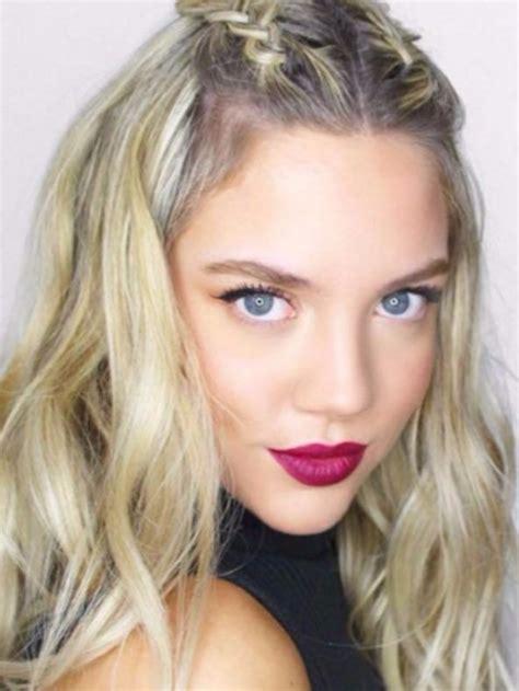 La moda en tu cabello: Lindas trenzas con el pelo suelto