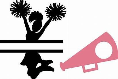 Megaphone Cheerleader Monogram Clipart Vinyl Heat Sports
