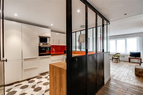 verriere interieure cuisine verrière intérieure autour d 39 une cuisine contemporain