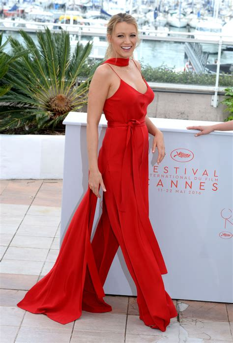 Pregnant Blake Lively Glows In A Sexy Red Jumpsuit On