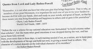 A Canadian Guider  Quotes From Lord And Lady Baden