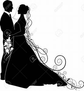 Bride And Groom Silhouette Cliparts, Stock Vector And ...