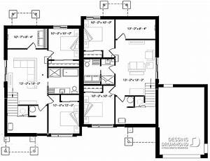 Plan Maison 6 Chambres : plan maison 6 chambres 2 garage 3070 dessins drummond ~ Voncanada.com Idées de Décoration