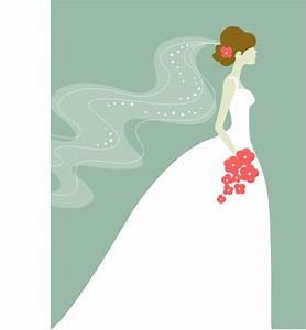 Dress clipart bride dress - Pencil and in color dress ...