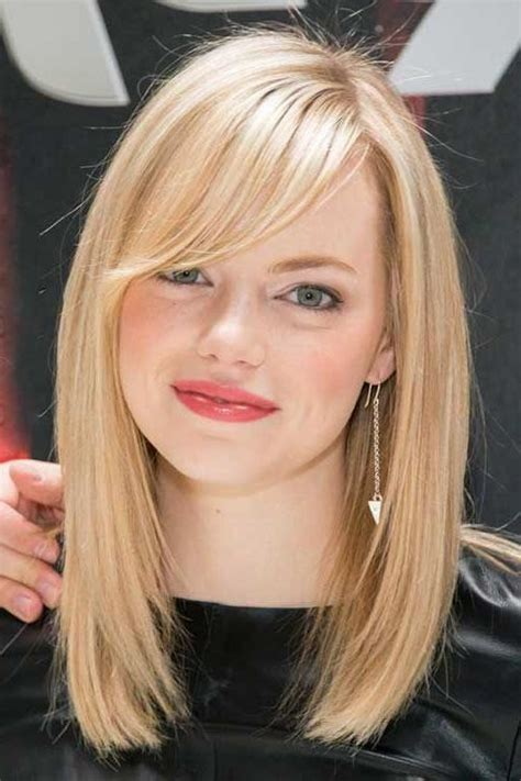 15 photo of medium bob hairstyles with side bangs