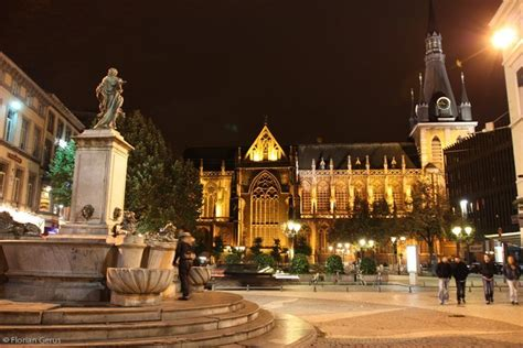 la cathedrale saint paul  liege photo  night global