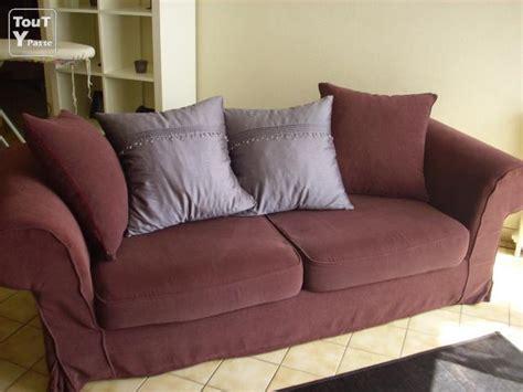 canapé couleur prune canapé 3 places convertible couleur prune jean de la