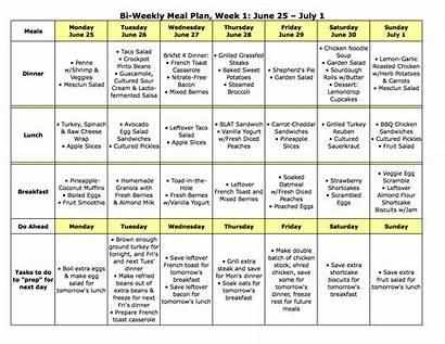 Meal Plan Weekly Bi July June Monday