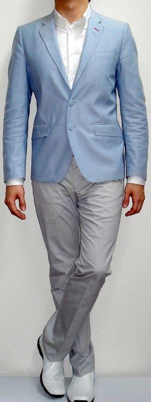 light blue dress shoes mens shoes with a light grey suit style guru fashion glitz