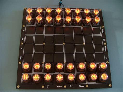 lasermad nixie chessboard das ultimative nerd schachbrett