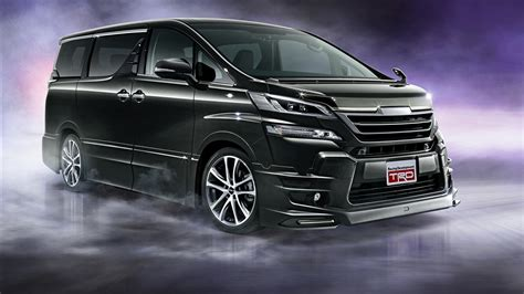 Toyota Vellfire Hd Picture by Photo Toyota Vellfire Trd 2015 Black Cars 1366x768