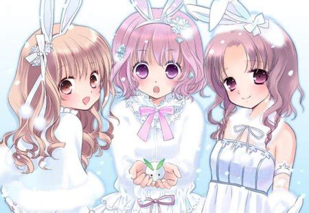 Anime Bunny Wallpaper - snow bunny other anime background wallpapers on