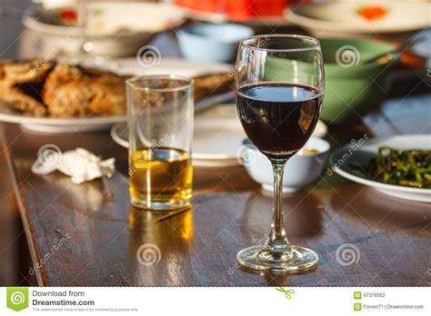 cuisine concept and wine on the table stock photo image 67379563
