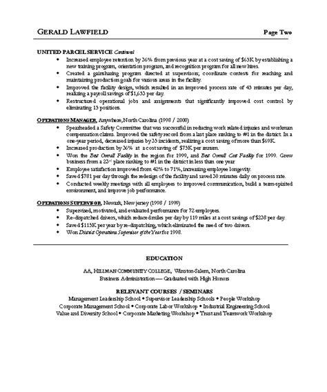 resume summary of qualifications customer service doc 600720 resume sle 5 operations manager resume careerresumes bizdoska com