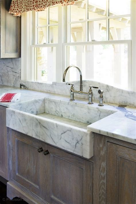 marble apron sink country kitchen precision stoneworks