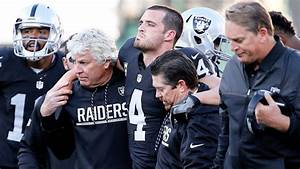Derek Carr of Oakland Raiders helped off field with lower ...