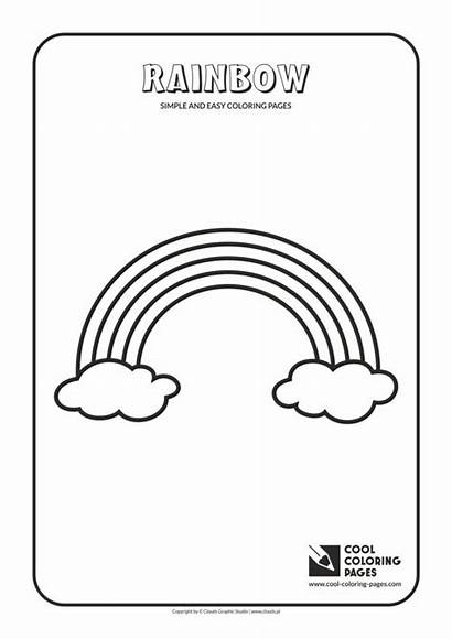 Coloring Easy Pages Simple Rainbow Cool Activities