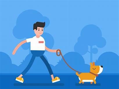 Walking Dog Walk Animated Morning Roll Call