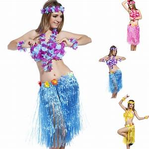 Hawaiian Beach Luau party Hawaii Costume skirt headband ...