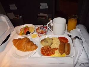 Emirates Airline. Business Class meal. Very nice ...