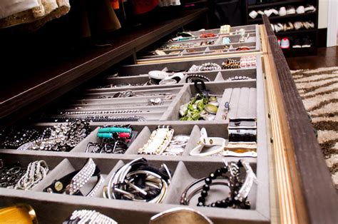 pretty jewelry drawer organizer in closet contemporary