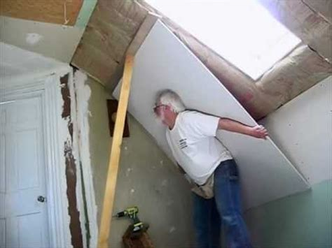 how to hang overhead sheetrock alone youtube