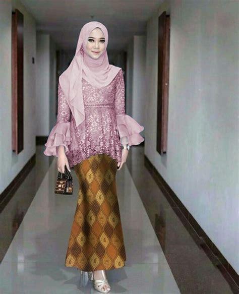 jual set kebaya modern dusty rok duyung batik silk di lapak poncomozes khloes room