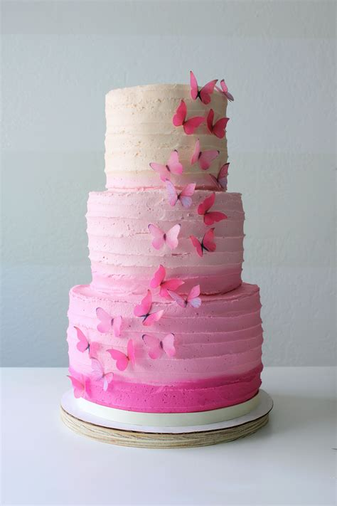 Ombre Butterfly Cake Petal And Posie Cakes